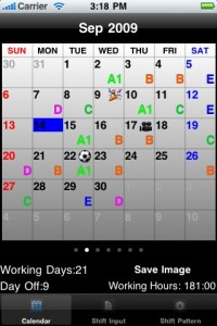 ShiftWorkCal Calendar